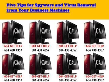 Tips for  Spyware and Virus Removal