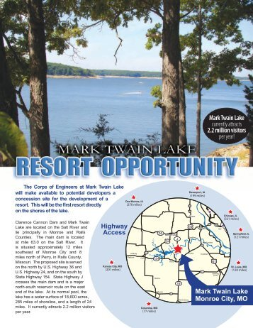 Mark Twain Lake currently attracts 2.2 million visitors per year!