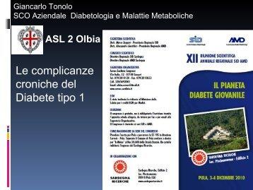 Le complicanze croniche del Diabete tipo 1