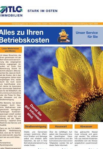 Alles zu Ihren Betriebskosten - TLG Immobilien GmbH