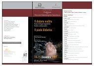 Il diabete mellito Il piede diabetico 14•15 Dicembre 2007