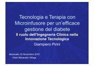 Tecnologia e Terapia con Microinfusore per un'efficace gestione del diabete
