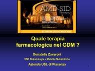 Quale terapia farmacologica nel GDM ?