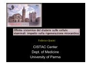 CISTAC Center Dept of Medicine University of Parma