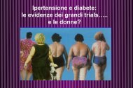 le evidenze dei grandi trials…. e le donne?