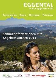 Sommerinformationen mit Angebotswochen 2011