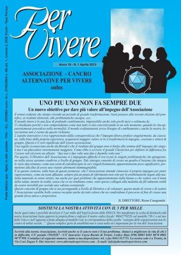 Anno 18 - Nr. 1 Aprile - Alternativepervivere