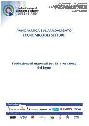 Report produzione di materiali per la lavorazione del legno