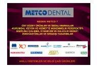 AKILLI SİSTEMLER VE BİLGİ ÇAĞI ÜRÜNLERİ - METCO Dental