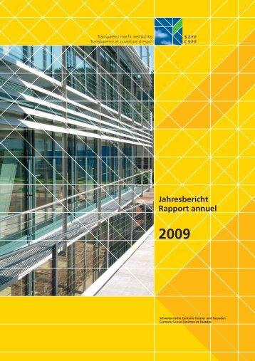 Jahresbericht Rapport annuel 2009 - SZFF