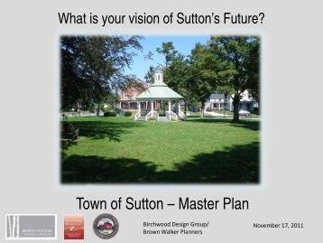 Town of Sutton – Master Plan