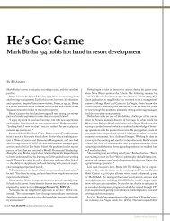 Mark Birtha - Cornell School of Hotel Administration