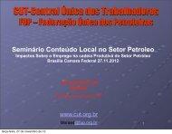 Veja aqui a apresentação feita pela FUP no seminário.