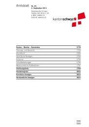 Amtsblatt Nr. 35 vom 2. September 2011 (749 - Kanton Schwyz