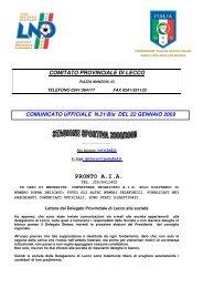 5.5.0 Comitato Provinciale di LECCO LND