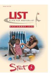 Ferienwohnungen List - Sylt