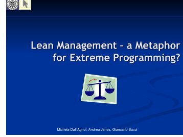 Lean Management – a Metaphor for Extreme Programming?
