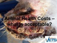 Animal Health Costs – what is acceptable?