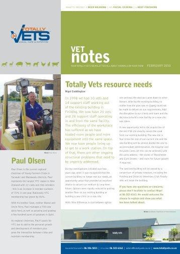 Totally Vets - Vet Notes - February 2010