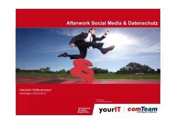 Afterwork Social Media & Datenschutz