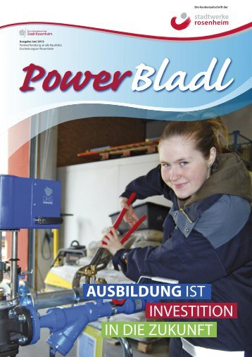 Powerbladl Aufbau - Stadtwerke  Rosenheim