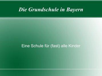 Die Grundschule in Bayern