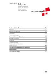 Amtsblatt Nr. 34 vom 26. August 2011 (803 - Kanton Schwyz