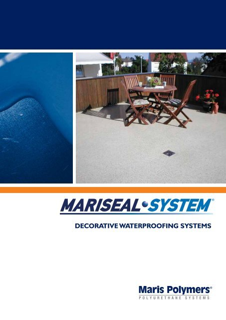 DECORATIVE WATERPROOFING SYSTEMS - Maris Polymers