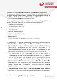Fremdfirmenordnung Müllheizkraftwerk - Stadtwerke Rosenheim