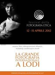 Scarica il libretto del Festival! (2.3MB) - Festival della Fotografia Etica