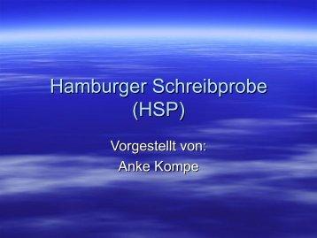 Hamburger Schreibprobe (HSP)
