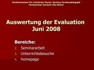 Auswertung der Evaluation Juni 2008