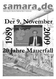 Ausgabe 34 Der 9. November – 20 Jahre Mauerfall