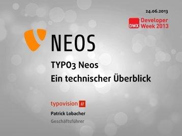 TYPO3 Neos Ein technischer Überblick