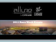 2011 Race Week Events - Ibiza VIP Agency