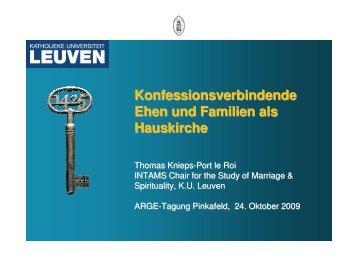 Konfessionsverbindende Ehen und Familien als Hauskirche