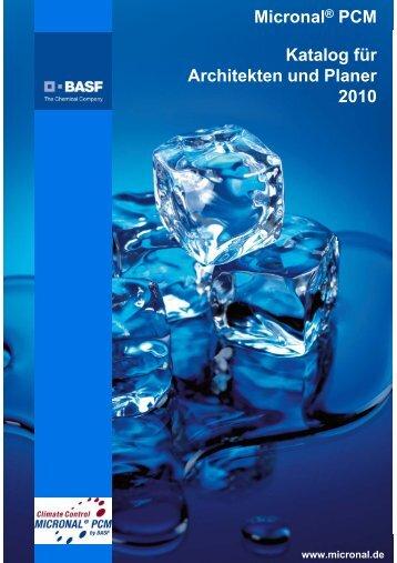 Micronal PCM Katalog für Architekten und Planer 2010