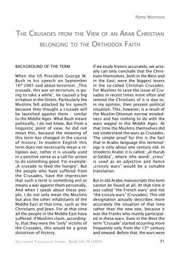 Christians Crusades mindedness terminology participated