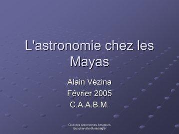 L'astronomie chez les Mayas
