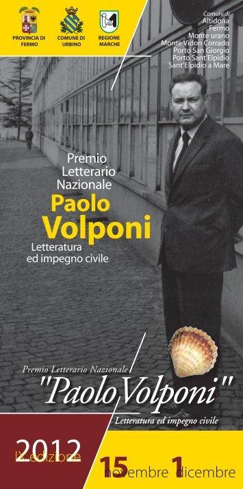 """scarica il programma di tutti gli eventi del Premio """"Paolo Volponi"""""""
