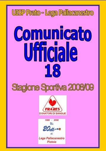 UISP Lega Pallacanestro Prato - www.pallacanestrouisptoscana ...