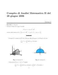 Compito di Analisi Matematica II del 28 giugno 2006