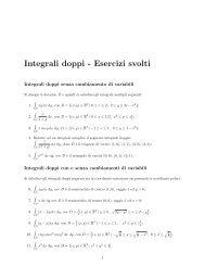 Integrali doppi - Esercizi svolti