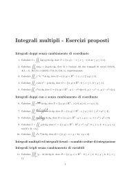 Integrali multipli - Esercizi proposti