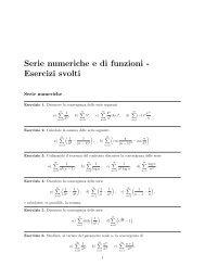 Serie numeriche e di funzioni - Esercizi svolti