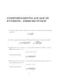 COMPORTAMENTO LOCALE DI FUNZIONI - ESERCIZI SVOLTI