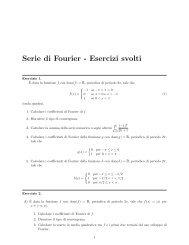 Serie di Fourier - Esercizi svolti