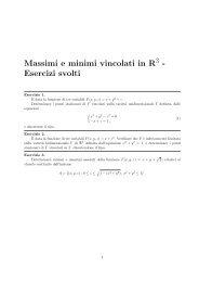 Massimi e minimi vincolati in R - Esercizi svolti