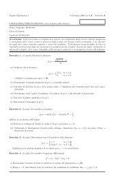 Analisi Matematica 1 9 Gennaio 2008 ore 8,30 – Versione A ...