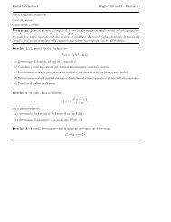 Analisi Matematica 1 1 luglio 2010 ore 17 – Versione A Nome ...